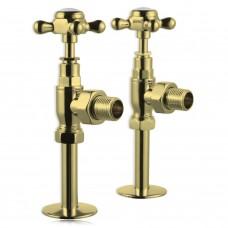Клапаны Burlington R6 GOL угловые для полотенцесушителя золото
