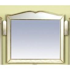 Анжелика - 100 Зеркало белое сусальное золото  со светильниками