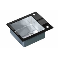 Мойка ZorG inox-glass GL-6051-BLACK