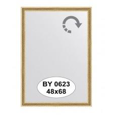 Зеркало в багетной раме  (48х68 см) (Evoform) витое золото BY 0623