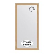 Зеркало в багетной раме  (50х100 см) (Evoform) клен BY 0698