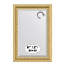 Зеркало в багетной раме  (65х95 см) (Evoform) сусальное золото BY 1274