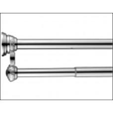 Карниз двойной для ванной с кольцами 12 шт Monterno 1035-1850 мм CD-2-Chrome