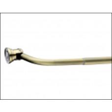 Карниз дуговой для ванной с кольцами Monterno (12шт) 1260-2080мм Bronze