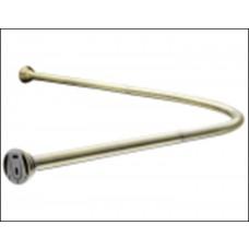 Карниз угловой для ванной с кольцами Monterno (12шт) 920*920мм Bronze