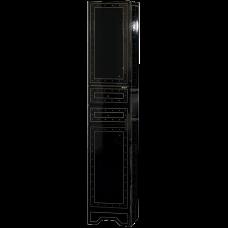 Misty Bella -  35  Пенал с 2 ящ + Б/К черный с кристаллами
