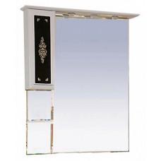 Misty Мальта - 75 Зеркало-шкаф белое (узор)