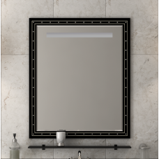 Misty Bella - 75 Зеркало черное с кристаллами