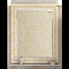 Misty Fresko - 75 Зеркало с пол. Краколет белый патина