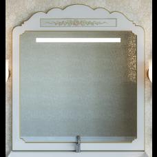 Milano -120 Зеркало белая патина/декор