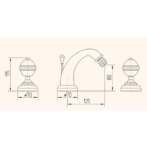Смеситель для биде Migliore Cristalia Swarovski 27180 (ML.CRS-3725.DO)